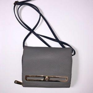 Vince Camuto Gray Leather Crossbody Bag